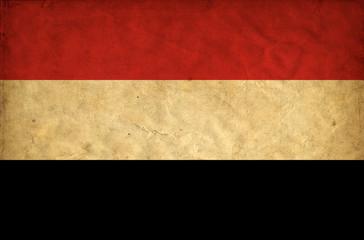 Yemen grunge flag