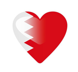 Bahrain 3D heart shaped flag