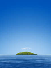 Tuinposter Eiland simple seascape with a island