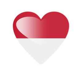 Monaco 3D heart shaped flag