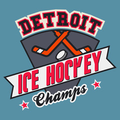 Detroit Ice Hockey Champs t-shirt design