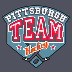 Pittsburgh Hockey Team t-shirt design