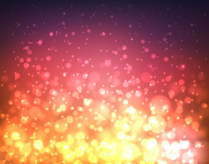 Abstract colorful blurred background with lights and bokeh