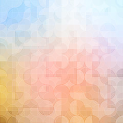 Mosaic colorful background of geometric shapes.