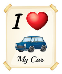 I love my car