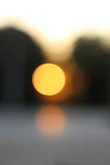 blur bokeh from sunrise