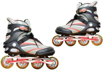 Image of roller skate under the light background