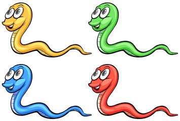 Four snakes