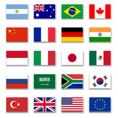 G-20 Group Flag Collection-Complete