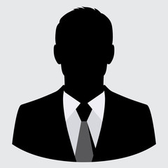 Vector businessman black silhouette