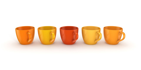 3d rendered cups.
