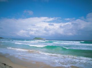 수평선과 섬