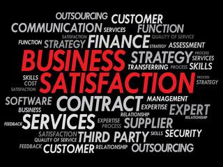 Business satisfaction words cloud concept