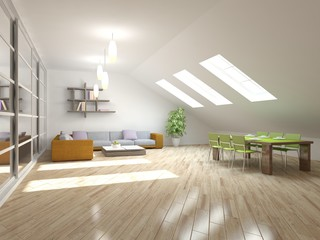 abstract interior design