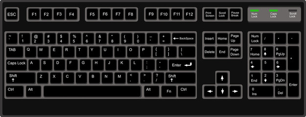 keyboard flat style in vector