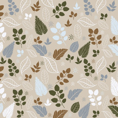 Colored pattern on leaves theme. Autumn pattern with leaves.Can
