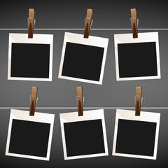 Photo empty vector set