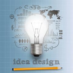 idea bulb concept vector