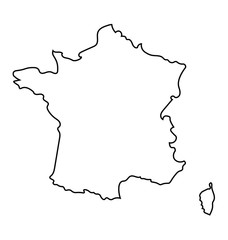black and white abstract map of France