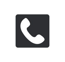 phone icon Rounded squares button, on white background