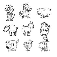 animals ,vector illustration.