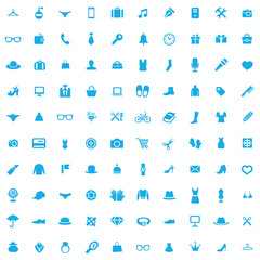 100 accessories icons
