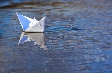White Paper Boat Sailing
