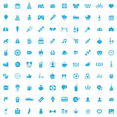 100 birthday icons.