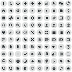 100 UI Outline For Web and Mobile icons