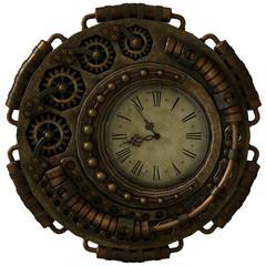 Steampunk Clock, 3d CG