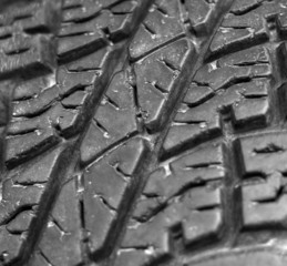 Close up of old car tire texture background