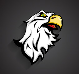 Angry Eagle Head Mascot Tattoo Vector
