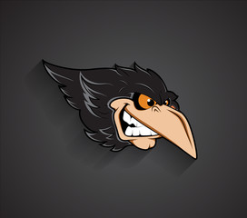 Angry Bird Face Vector