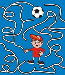 maze, soccer