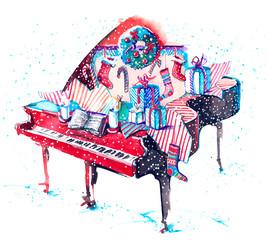 Fotobehang Schilderingen piano
