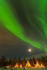 ティピーとオーロラ カナダ イエローナイフ northern light canada