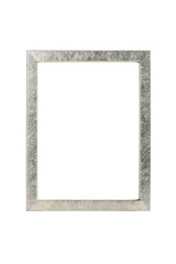 picture frame with brushed silver, isolated on white
