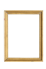 old golden picture frame, isolated on white