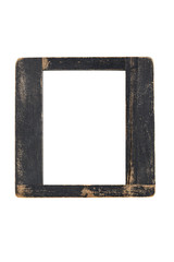 old vintage wooden picture frame, isolated on white