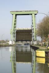Kanalschleuse im Wesel-Datteln-Kanal, Datteln, Deutschland