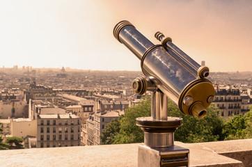 Paris tourist telescope