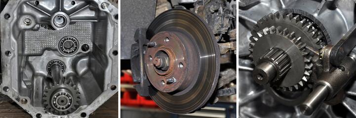 getriebe, bremsen, zahnräder