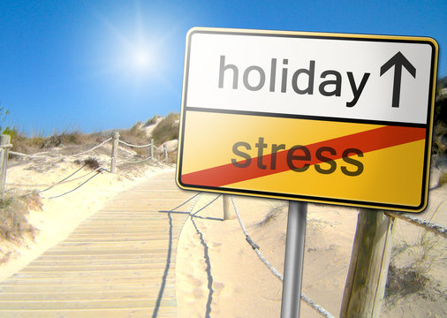 Sign hectic holiday stress