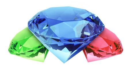 Diamanten freigestellt