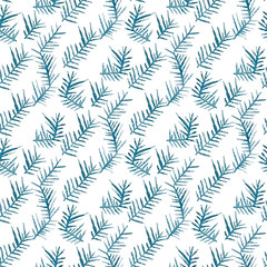 Seamless vector pattern with watercolor thorns.