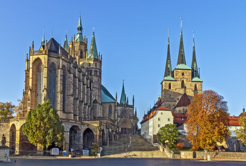Erfurt Cathedral and Severikirche,Germany Wall mural