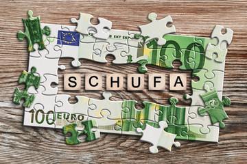 Geldscheinpuzzle - Schufa
