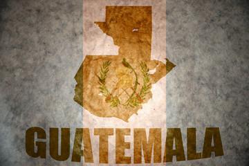 vintage guatemala map