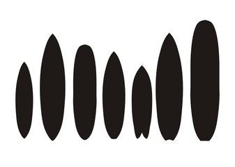 surfboard types - pictogram