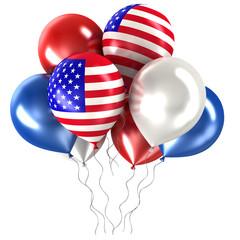 balls with symbols of the U.S.